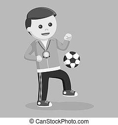 Sport teacher juggling ball