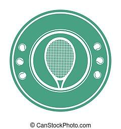 sport, tenis, emblemat, rakiety