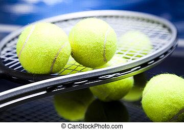 sport, tennisschläger, und, kugeln