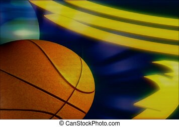 sport, tourner, basket-ball