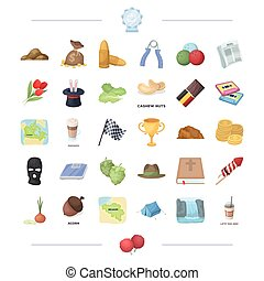 sport, travel, circus and other web icon in cartoon style.weapons, cooking, religion icons in set collection.