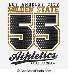 Sport Typography Graphics T-shirt - California Typography...