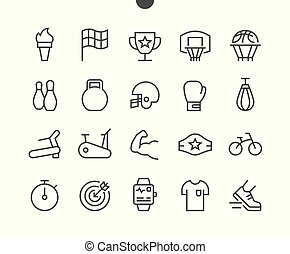 Sport UI Pixel Perfect Well-crafted Vector Thin Line Icons 48x48 Grid for Web Graphics and Apps. Simple Minimal Pictogram Part 2-2