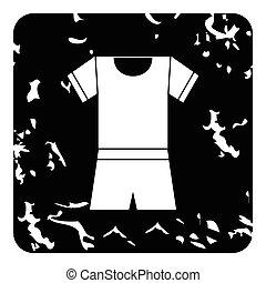 Sport uniform icon, grunge style