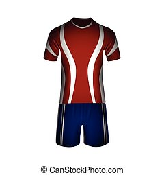 Sport uniform - Isolated man sport uniform on a white...