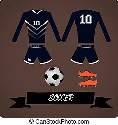 Sport Uniform - Soccer objects, Sport uniform, Vector...