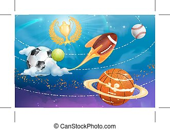 Sport universe background
