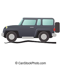 Sport utility vehicle. Cartoon illustration