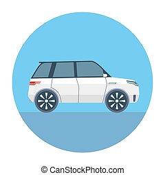 Sport Utility Vehicle SUV Vector Illustration flat style