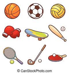 Sport - Vector illustration of Cartoon Sport set