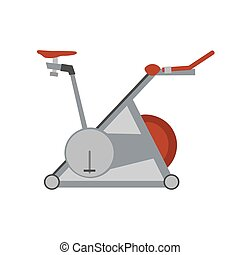 Sport vector gym fitness simulator icon exercise healthy equipment health illustration flat