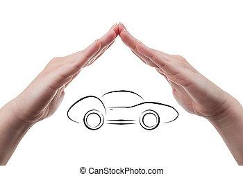 sport, vogn forsikring, begreb