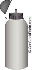 sport water bottle on a white background. Vector