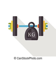 sport weightlifting flat icon
