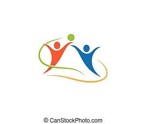 sport, wektor, logo