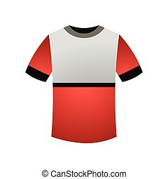Sport white red color tshirt for running or outdoor sport