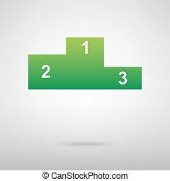 Sport winners podium green icon