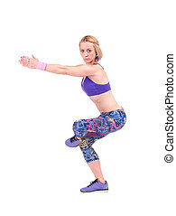 Sport woman doing fitness exercise