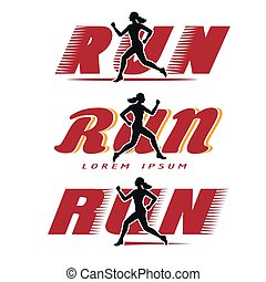 Logo with running woman