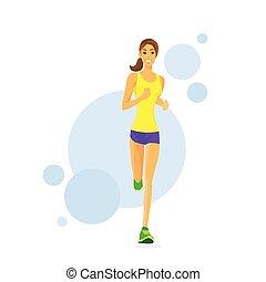 Sport Woman Run Fitness Girl Runner Jogging