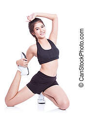 Sport woman stretching exercise