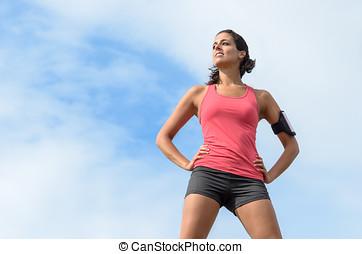 Sport woman success