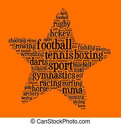 Sport word cloud concept