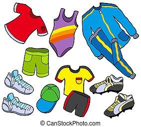 sport, zbiór, odzież