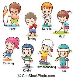 sport, zeichen