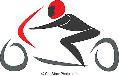 Sportbike racing - vector illustration. GP Racing.