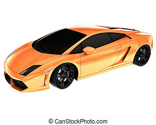 Sportcar - Cg car isolated on a white background