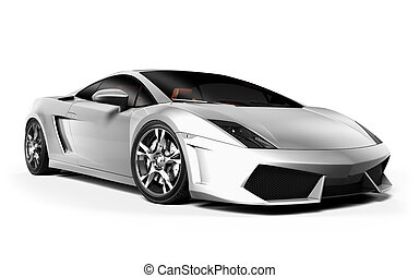 Cg car isolated on a white background