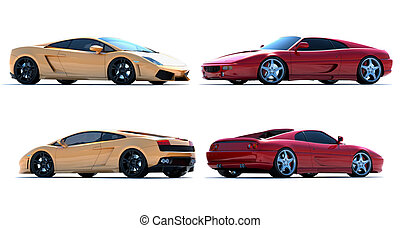 Sportcar - Cg cars on a white background