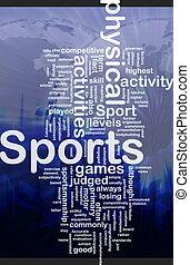 sporten activiteiten, achtergrond, concept