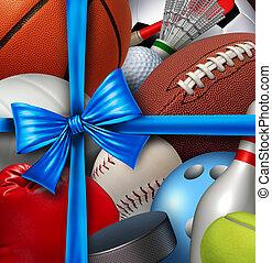 sporten, cadeau