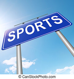 sporten, concept.