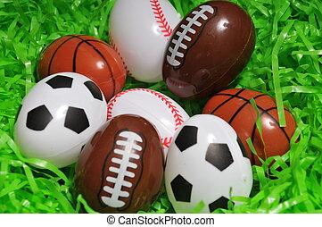 sporten, eitjes
