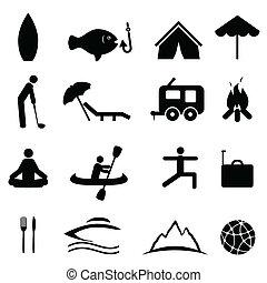 sporten en ontspanning, iconen