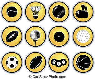 sporten, gelul, knopen