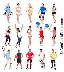 sporten, gevarieerd, mensen