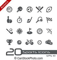 //, sporten, grondbeginselen, iconen