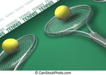 sporten, racquet, tennis