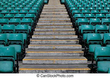 sporten, stadion, stappen