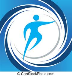 sporten, symbolen