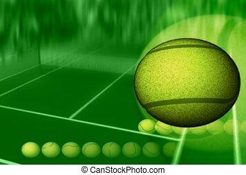 sporten, tennis bal, lucifer