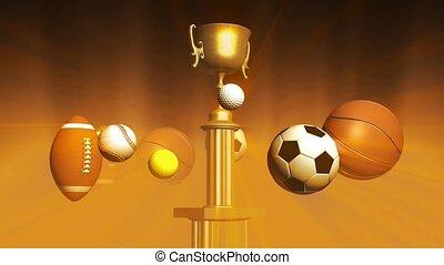 sporten, wedstrijdbeker