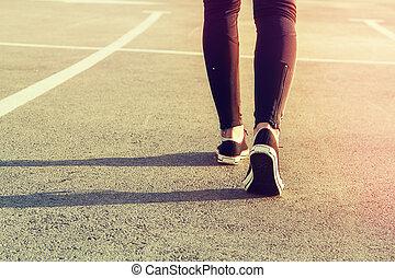 sportende, benen
