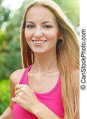 sportende, fitness, rennende , jonge vrouw , jogging