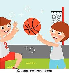 sportende, geitjes, activiteit