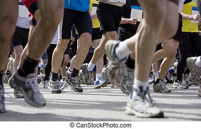 sportende, hardloop